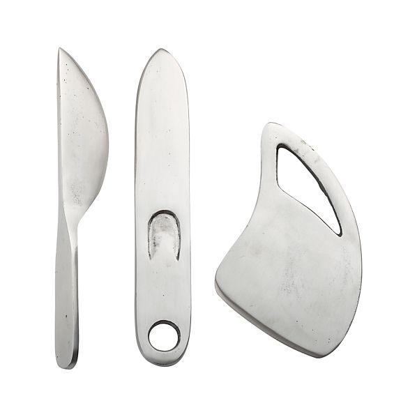 3-Piece Farmhouse Cast Iron Cheese Knife Set