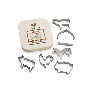 Set of 6 Farmhouse Cookie Cutters