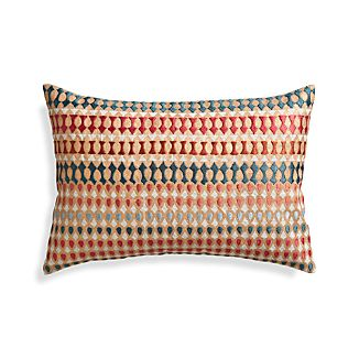 "Farrah 18""x12"" Pillow with Feather-Down Insert"