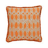 "Felicia 18"" Pillow with Feather-Down Insert"
