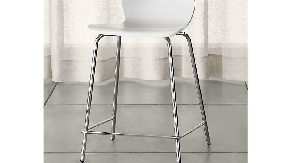 Felix White Bar Stool