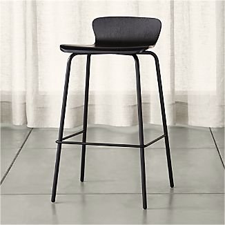 Felix Black Bar Stool
