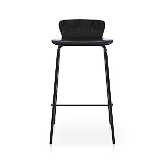 "Felix 30"" Black Bar Stool"