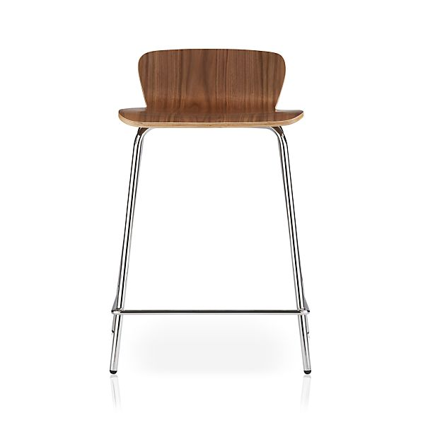 Felix Walnut Counter Stool In Bar Stools Crate And Barrel