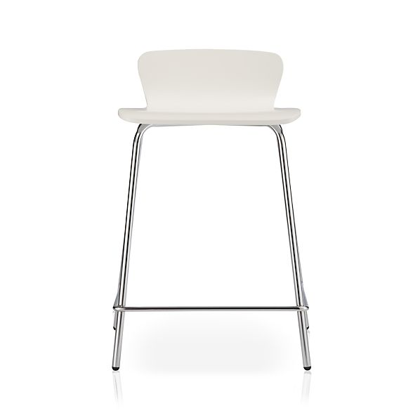 "Felix 24"" White Bar Stool"