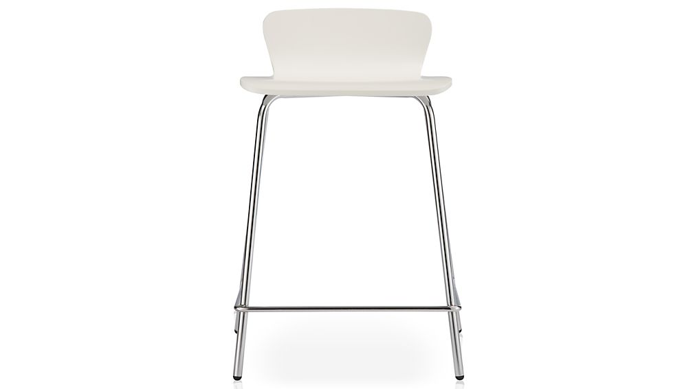Felix White Counter Stool In Bar Stools Crate And Barrel