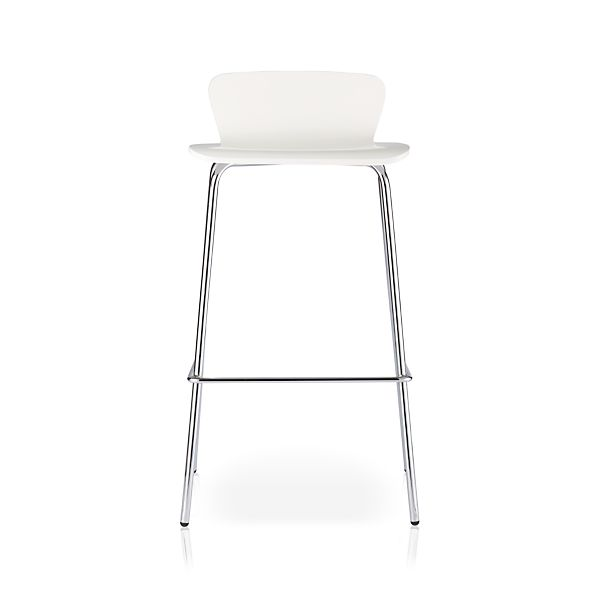 "Felix 30"" White Bar Stool"