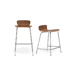 Felix Walnut Bar Stools