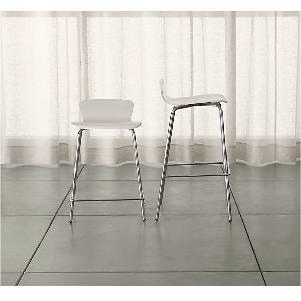 Felix White Bar Stools