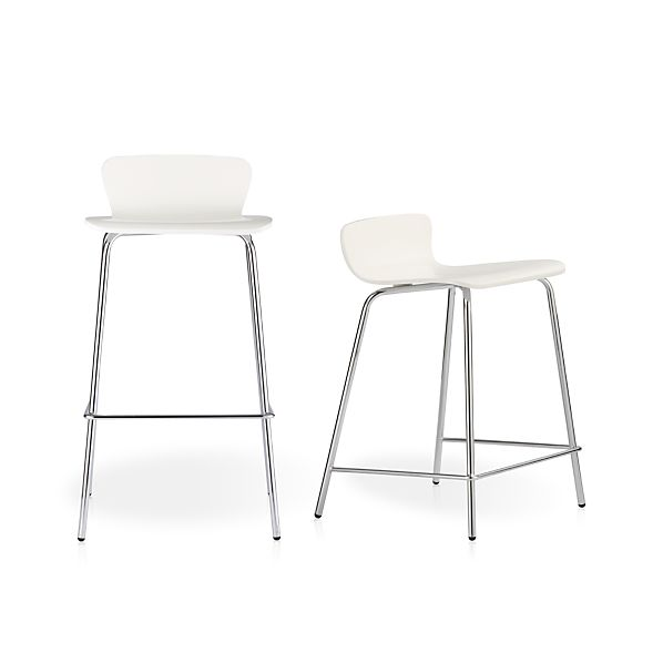 Felix White Bar Stools Crate And Barrel