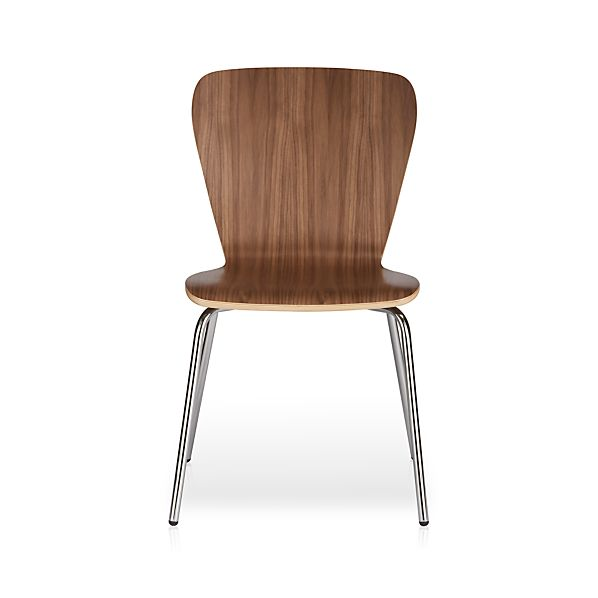 Felix Walnut Dining Chair In Dining Chairs Crate And Barrel