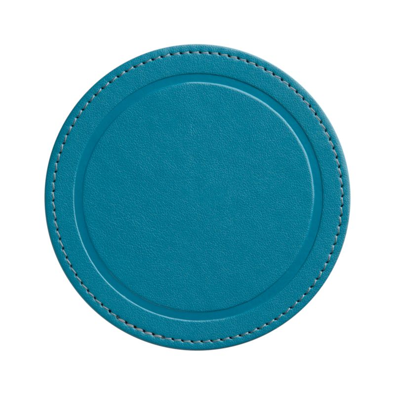 Casual round coaster takes it easy in a festive hue.<br /><br /><NEWTAG/><ul><li>49% polyurethane,  49% recycled paper, 2% thread</li><li>Clean with a soft cloth</li><li>Made in Thailand</li></ul>