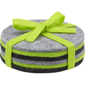 Set of 6 Felt Coasters