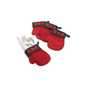 Felt Flatware Mittens Set of Four