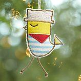 Felt Odd Bird Parakeet Ornament