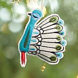Felt Odd Bird Peacock Ornament
