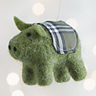 Green Felt Pig Ornament.