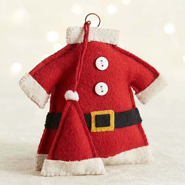 Felt Santa Suit Ornament
