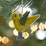 Felt Yellow Seagull Bird Ornament