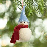 Felt Snowman with Blue Hat Ornament