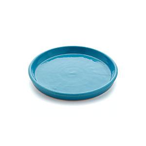 Festive Large Aqua Saucer