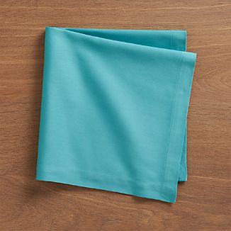 Fete Aqua Cotton Napkins Set of Eight