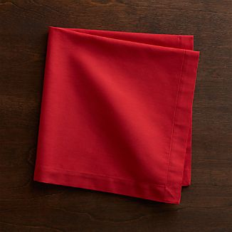 Set of 8 Fete Cherry Cotton Napkins