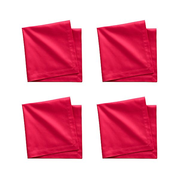 Set of 4 Fete Azalea Cotton Napkins