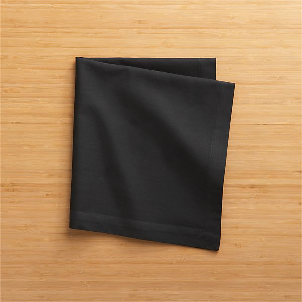 Fete Black Cotton Napkins Set of Eight