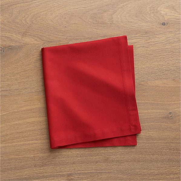 Set of 8 Fete Chili Cotton Napkins