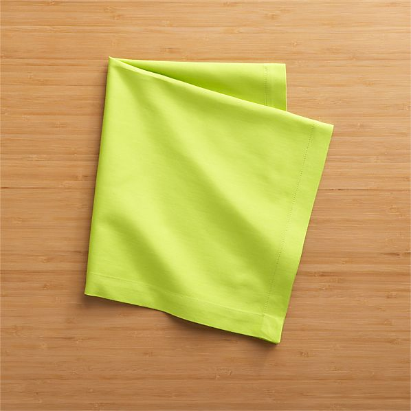Fete Lime Cotton Napkins Set of Eight