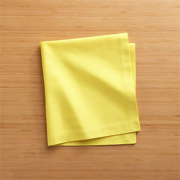Set of 8 Fete Maize Cotton Napkins