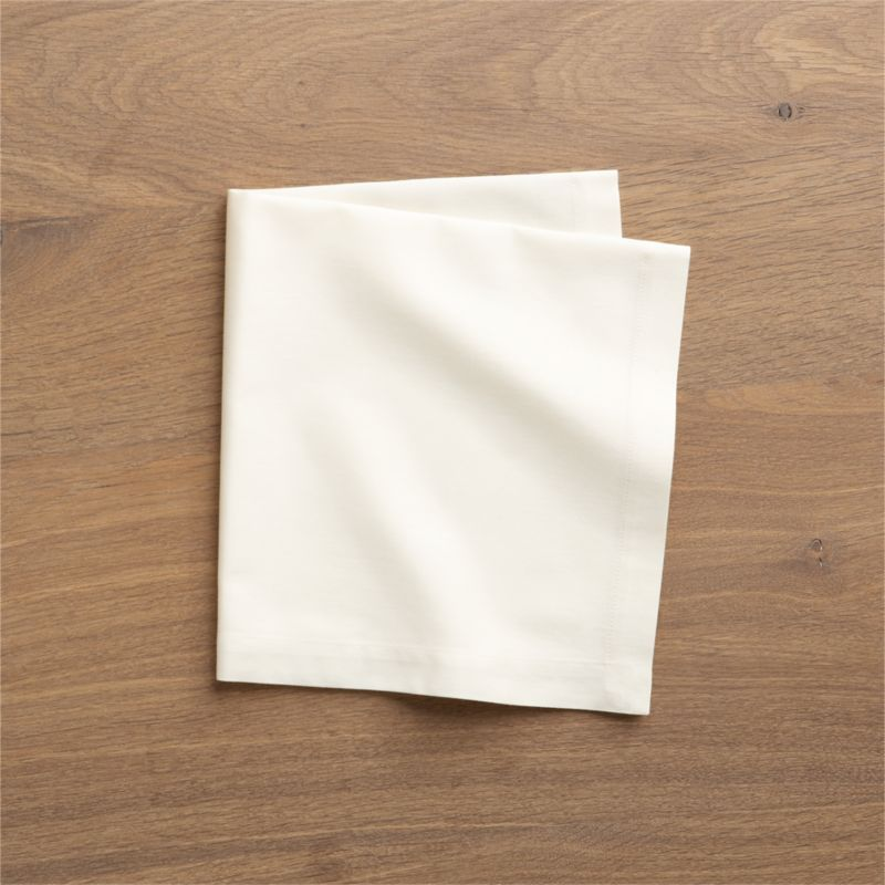 Set of 8 Fete Vanilla Cotton Napkins