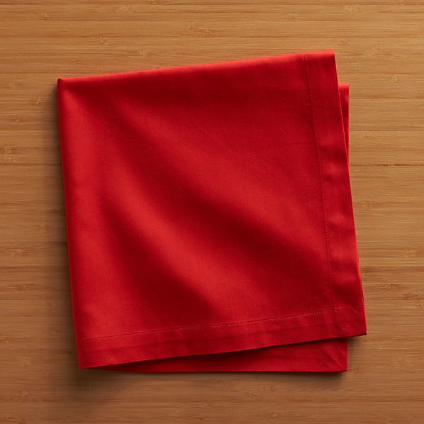 Fete Flame Cotton Napkins Set of Eight