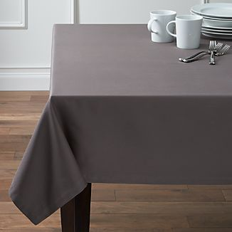 "Fete Pewter 60""x120"" Tablecloth"