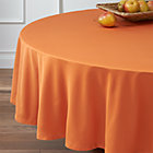 "Fete Pumpkin 90"" Round Tablecloth."