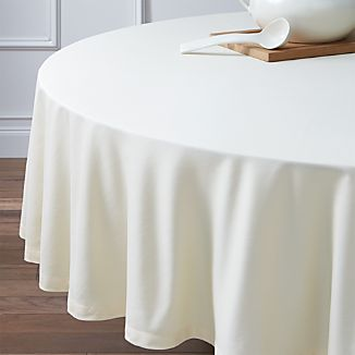 "Fete Vanilla 90"" Round Tablecloth"