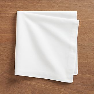 Fete White Cotton Napkins Set of Eight