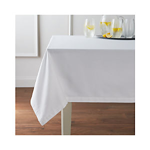 Fete White Tablecloth
