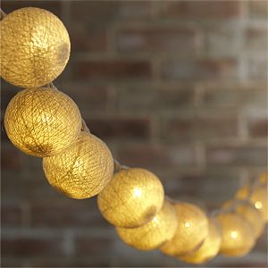 Fiber Ball String Lights