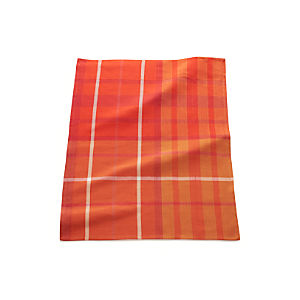 Fiery Red Plaid Dish Towel