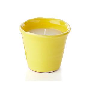 Festive Yellow Candlepot