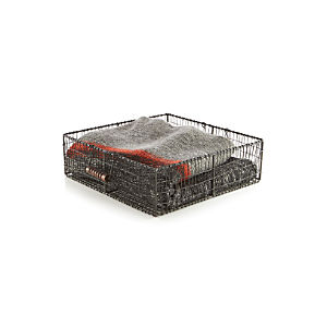 Filo Wire Basket with Wood Handles