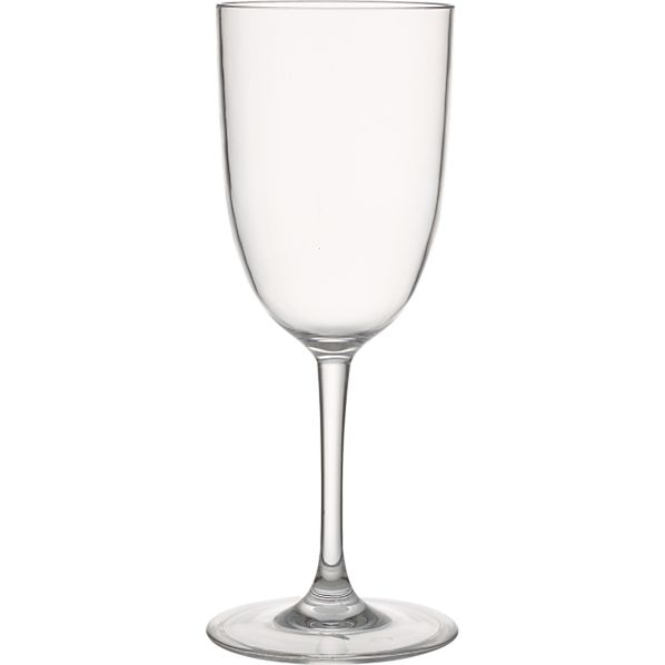 Set of 4 Fina Acrylic White Wine Glasses