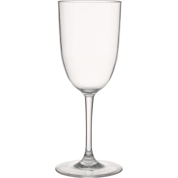 Set of 4 Fina Acrylic White Wine Glasses
