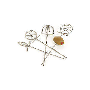 Finial Cocktail Picks Set of Four