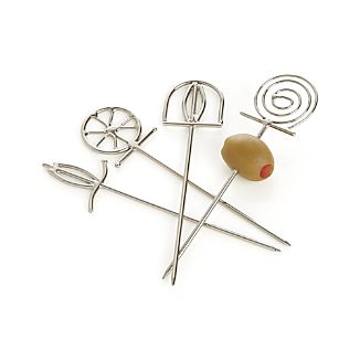 Set of 4 Finial Cocktail Picks