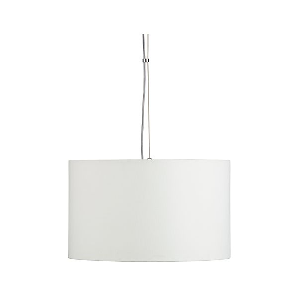 Finley Small White Pendant Light Crate And Barrel