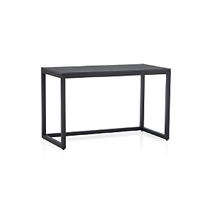 Finn Black Top Desk with Black Base