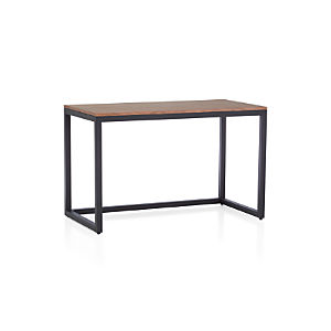 Finn Walnut Top Desk with Black Base